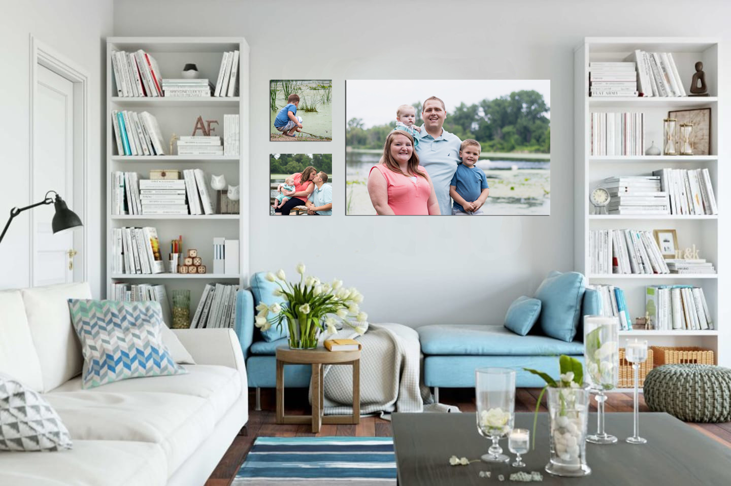 family portraits that coordinate to home design is a part of full service photographer services