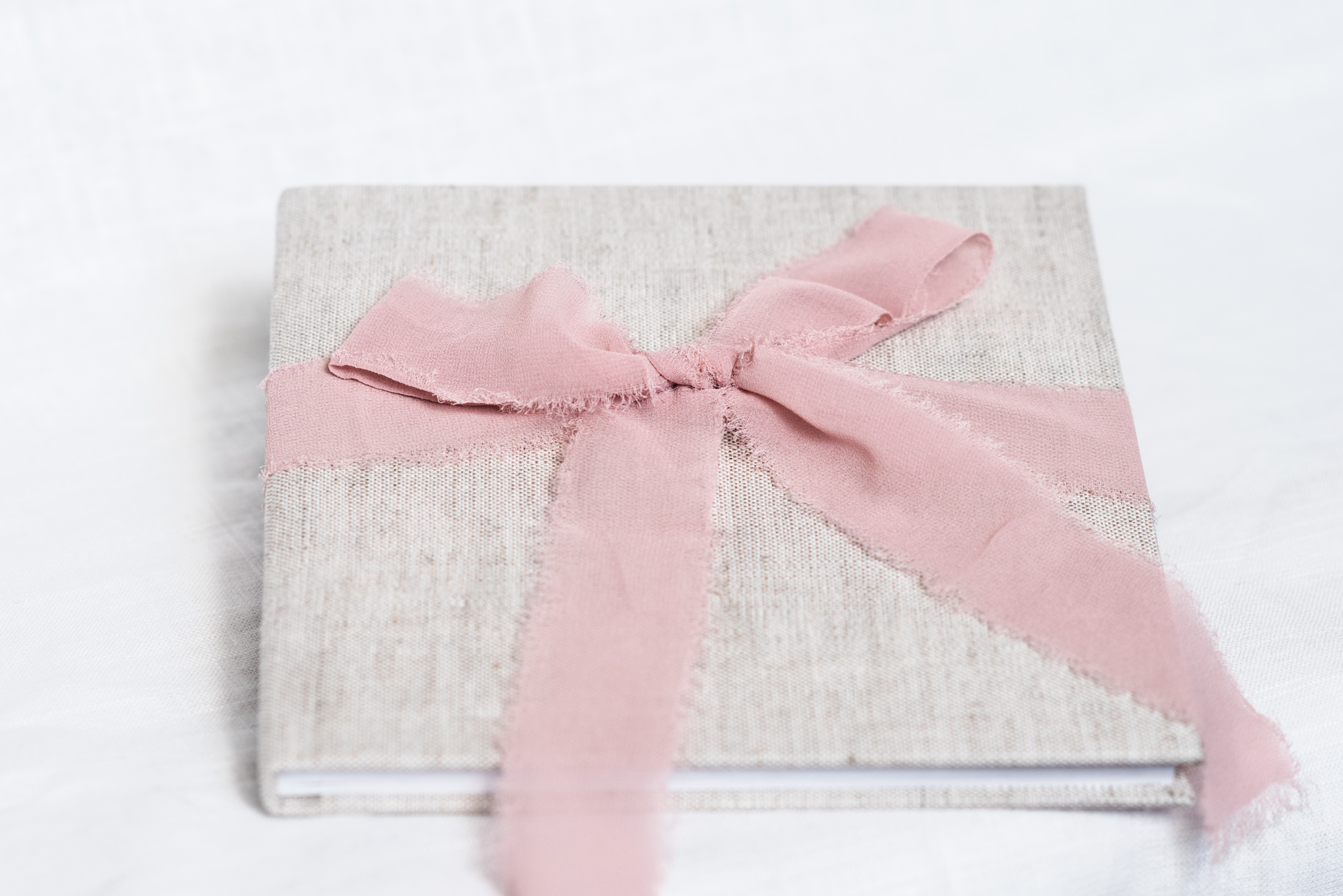 linen photo wedding album