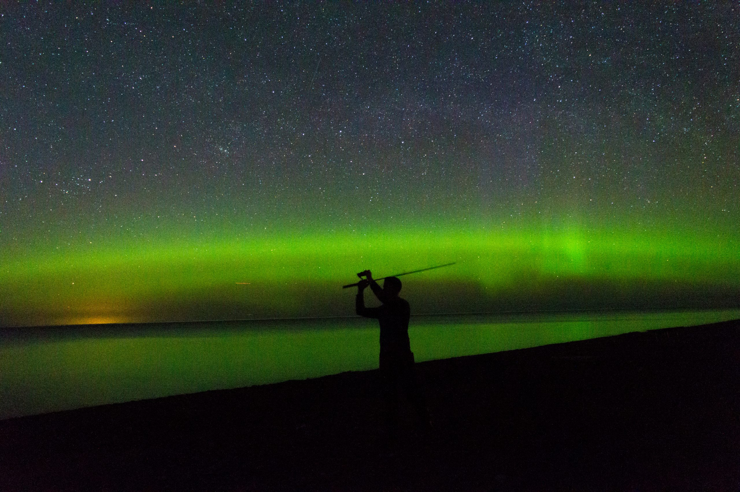 aurora borealis, upper peninsula michigan, northern lights, fishing in upper peninsula, calumet michigan