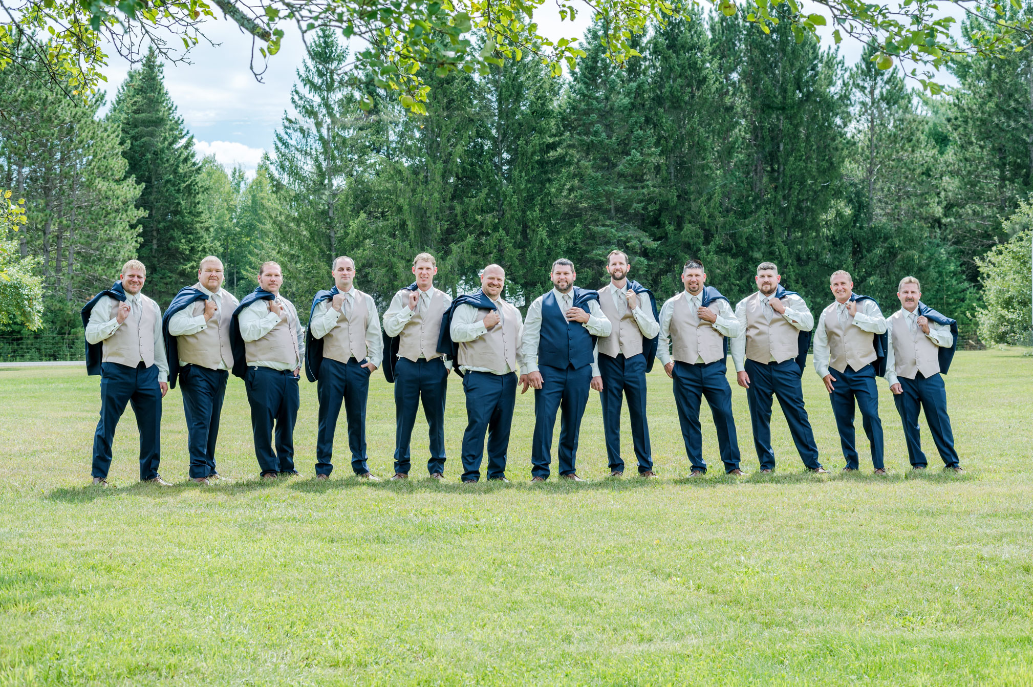 Groomsmen August Michigan Wedding