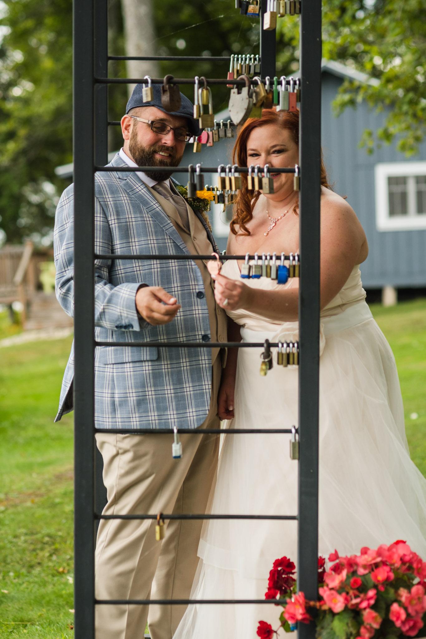 Chamberlins Ole Forest Inn Wedding love lock