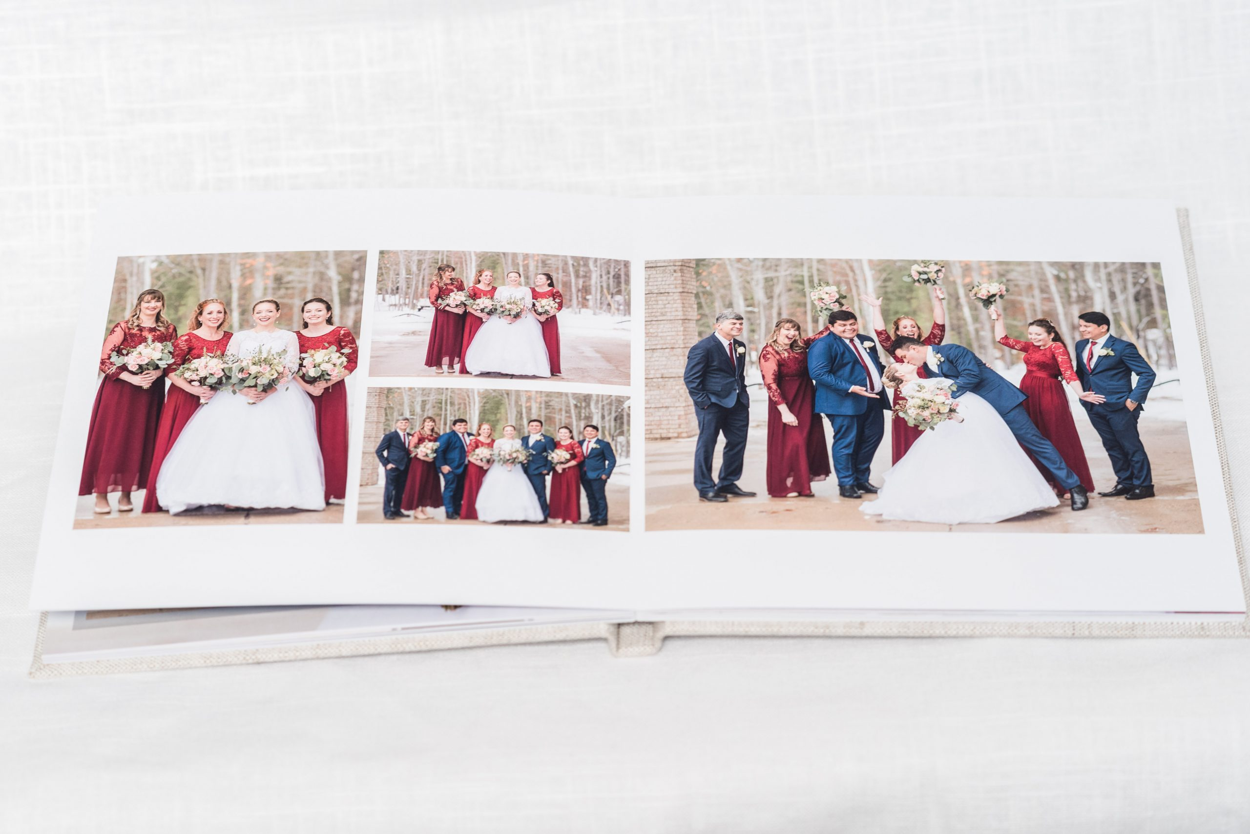 wedding album, micro wedding, mini wedding, upper peninsula elopement