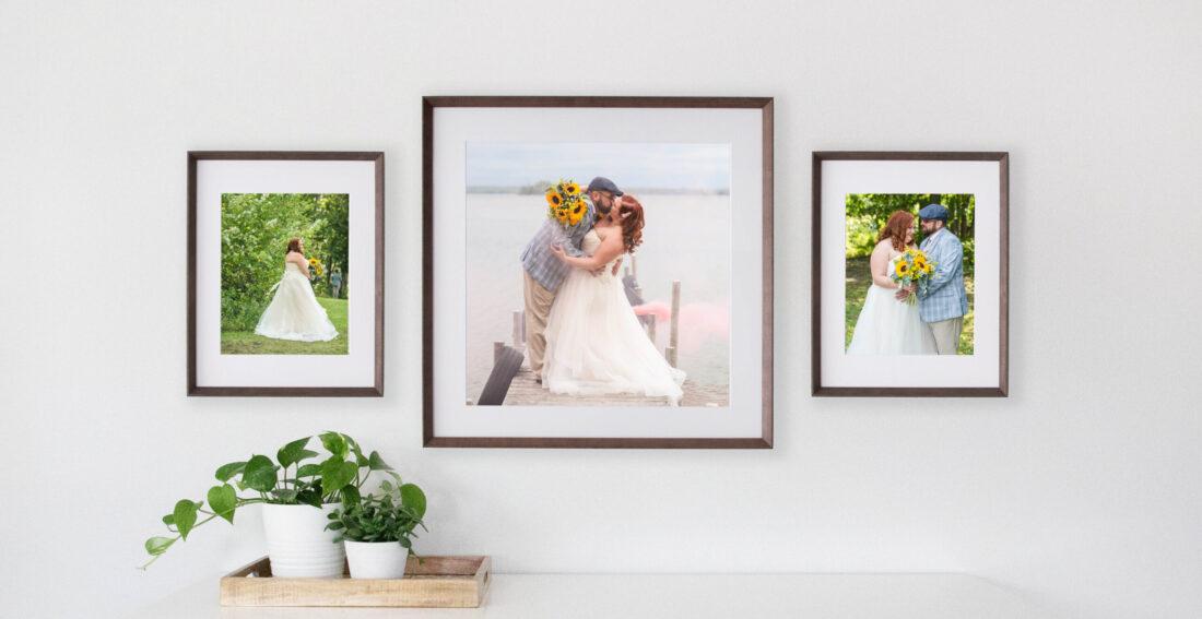 custom framing wedding pictures