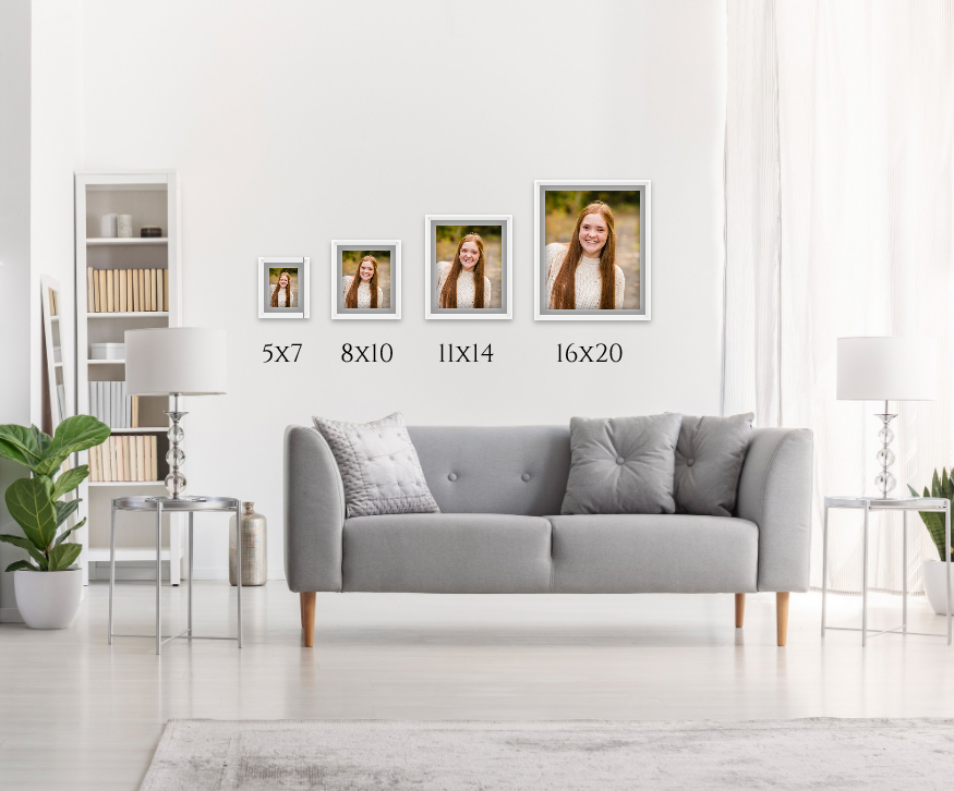 Visual comparison of how products look on your wall