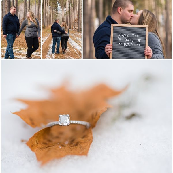 Lake Linden MI Engagement Session | Brandon and Caitlin