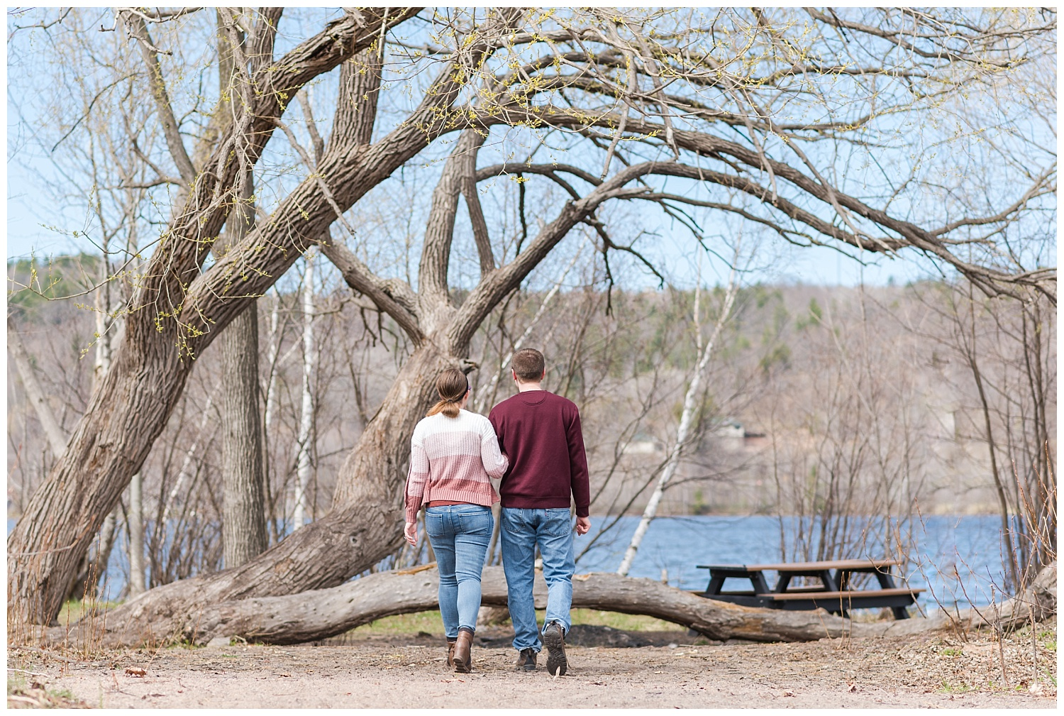 Couple walk at Prince's Point Park