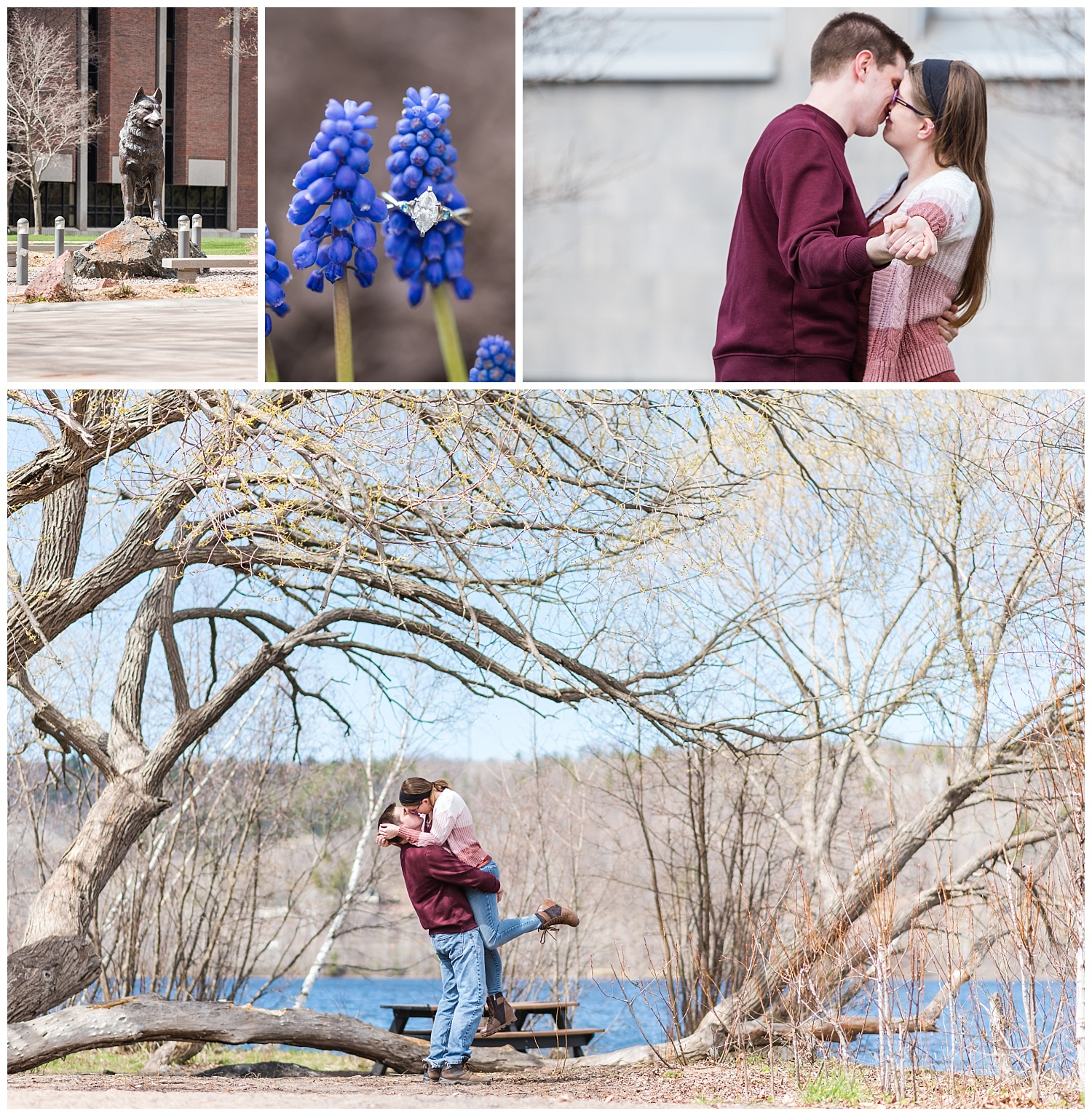 Michigan Tech University Engagement Session in Houghton Michigan Blog Collage
