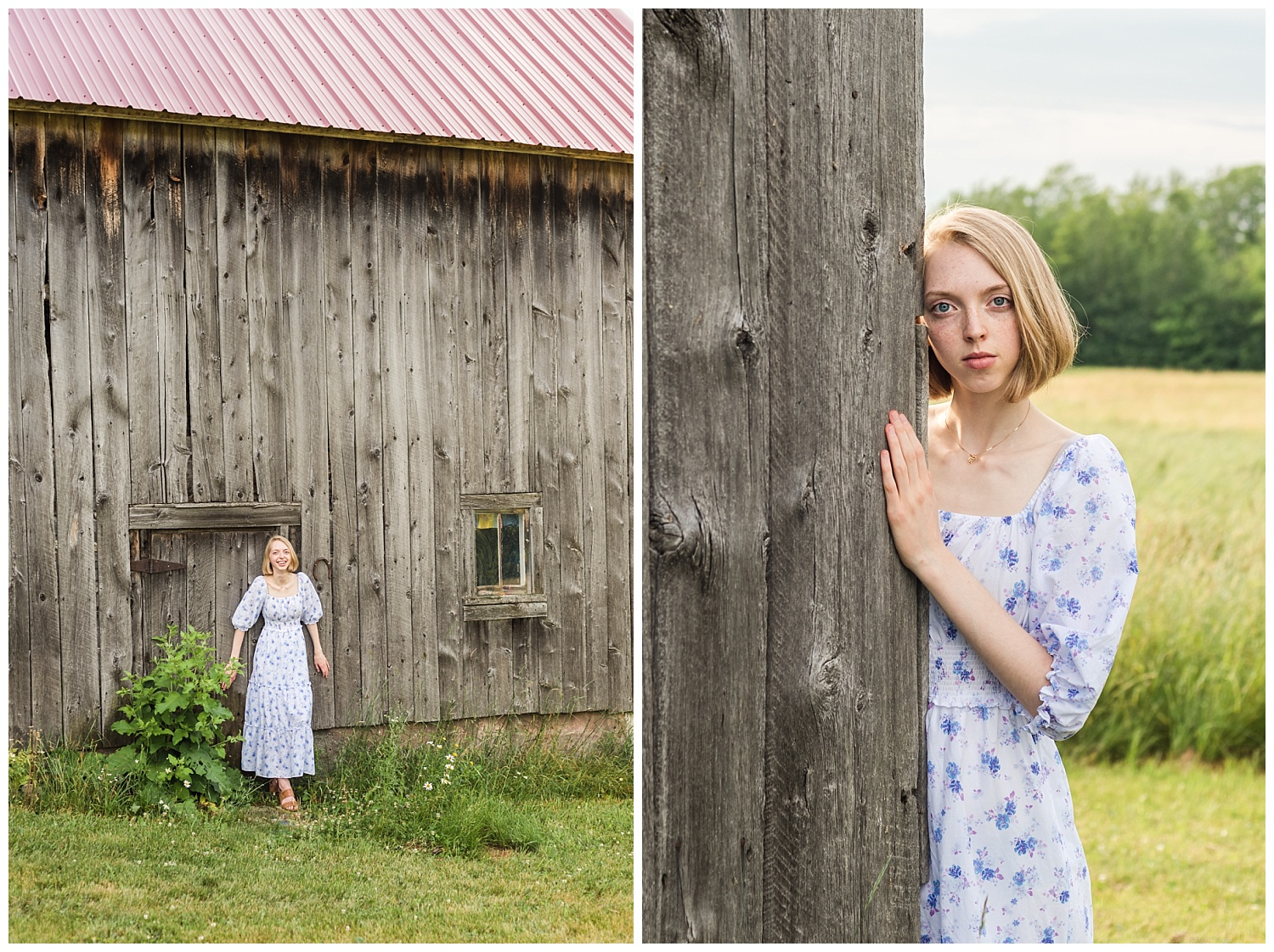 senior pictures with old barn in chassell mi