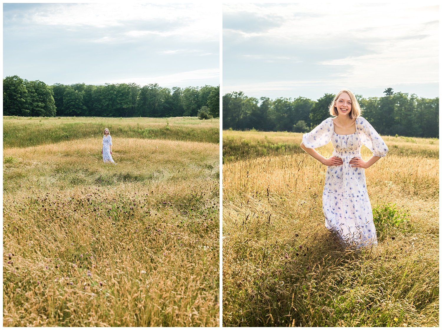 senior girl in field pictures in chassell mi