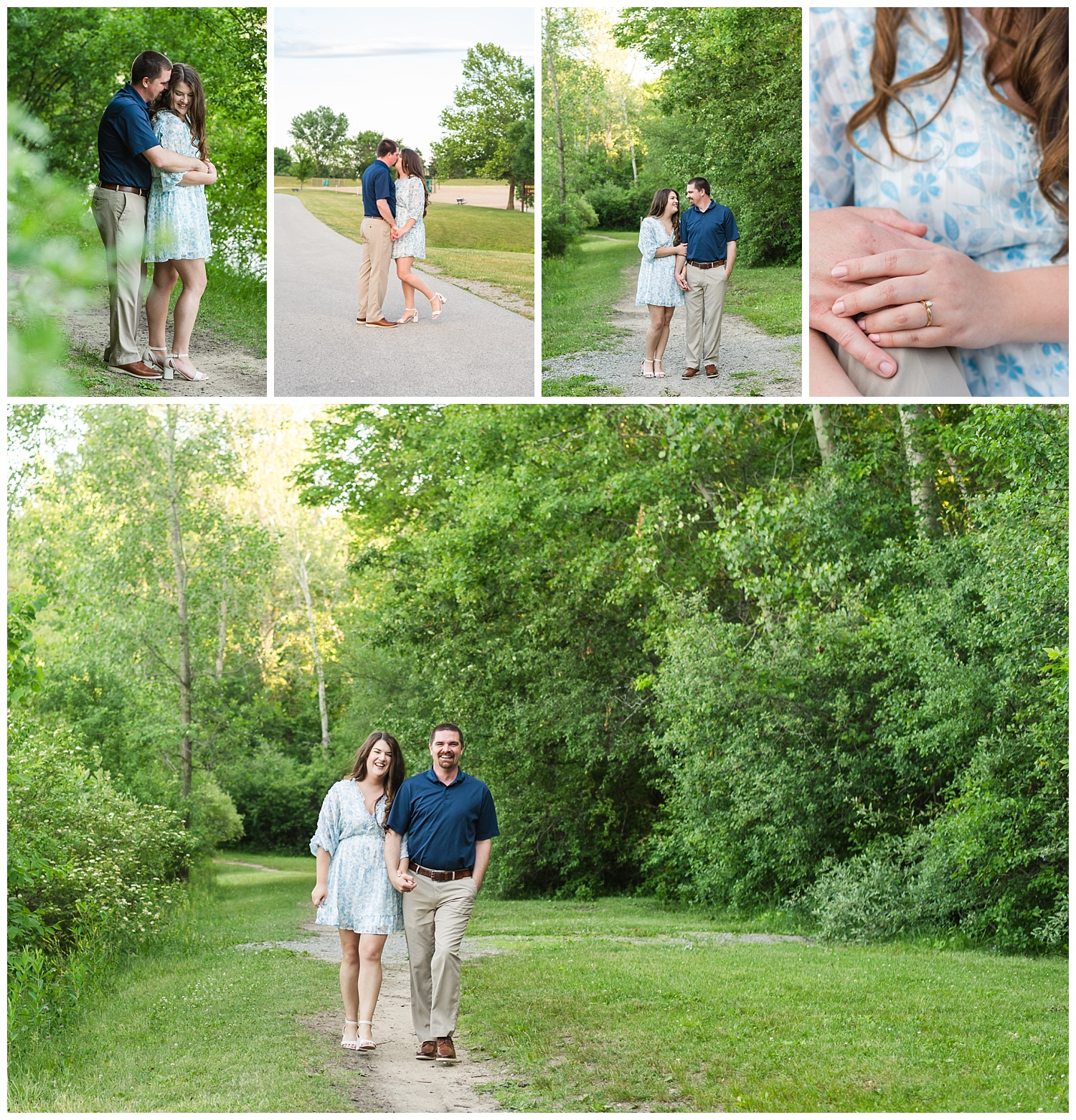 mid michigan engagement session blog collage