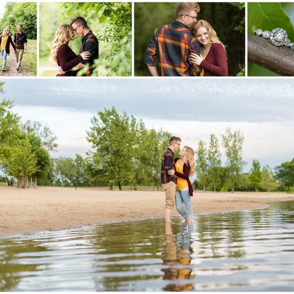 blog collage for midland mi engagement session