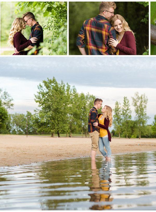 Engagement Session in Midland MI at Stratford Woods Park | Tyler + Alina