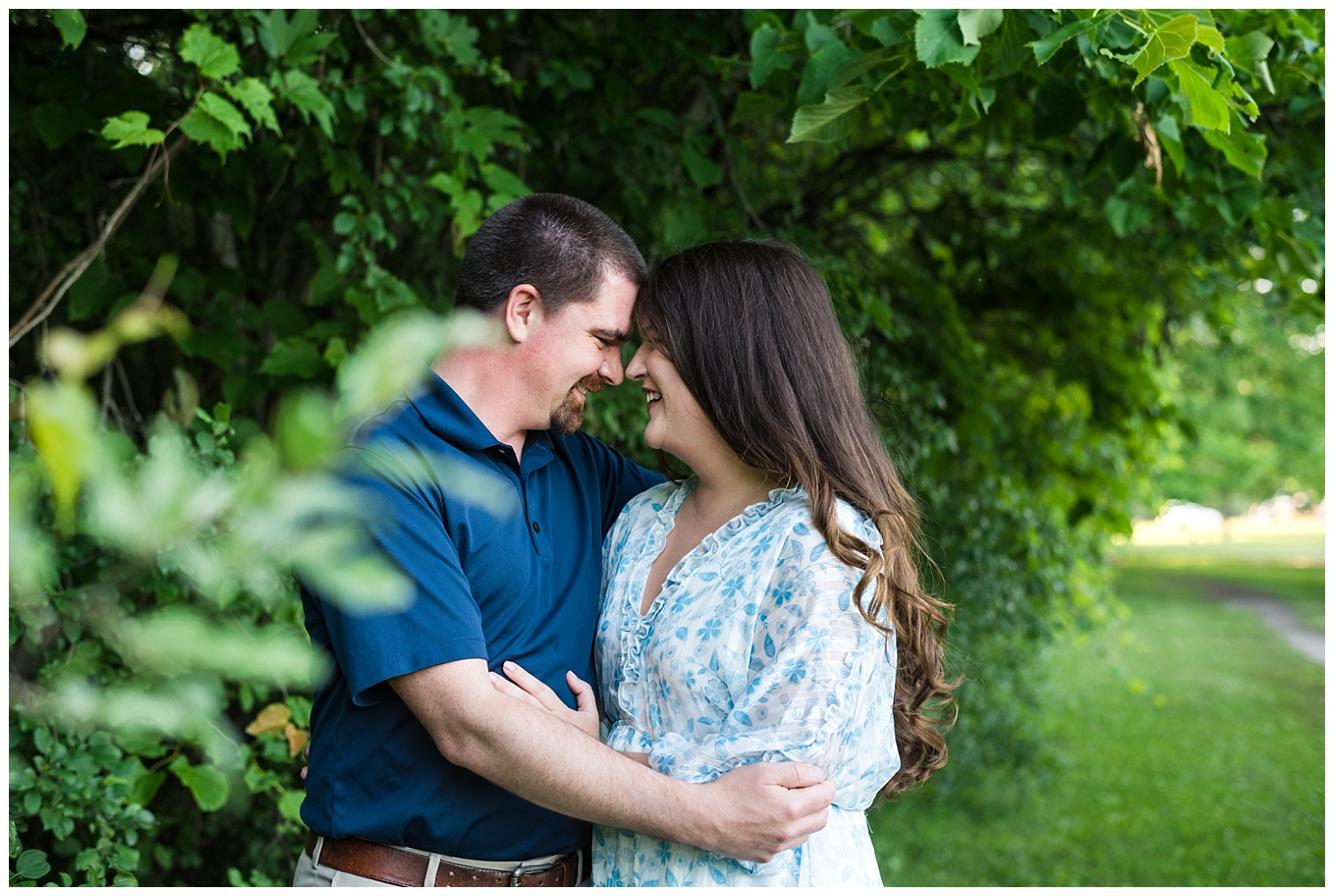 summer engagement session in midland