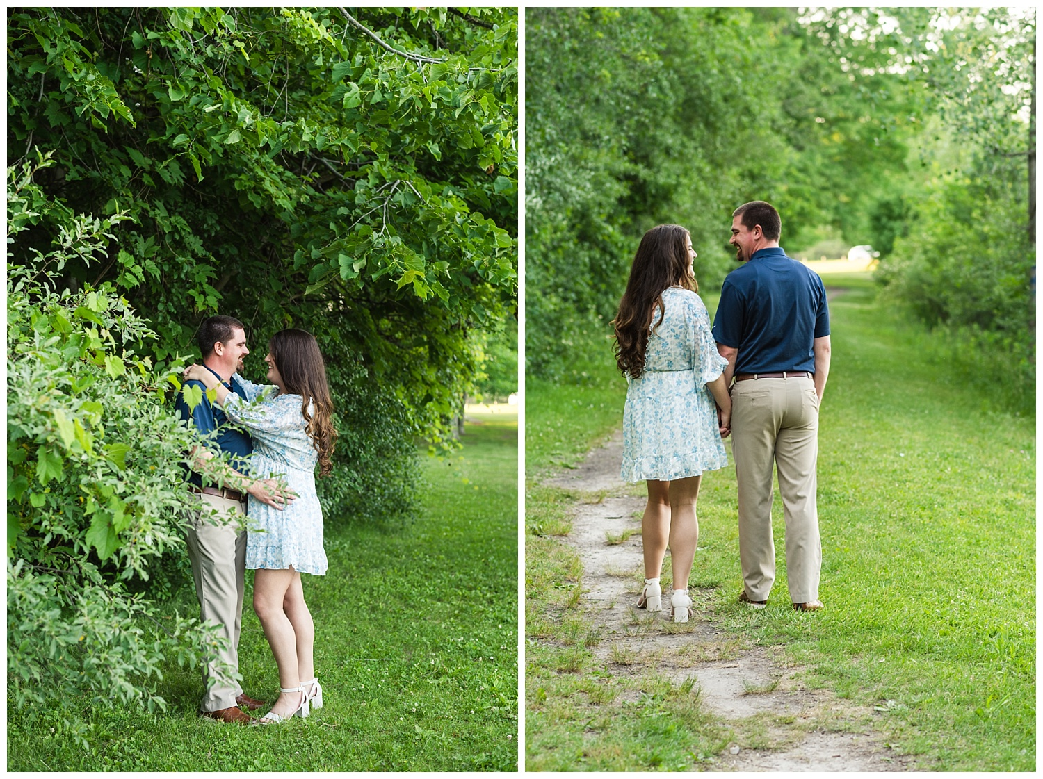 june engagement session in midland