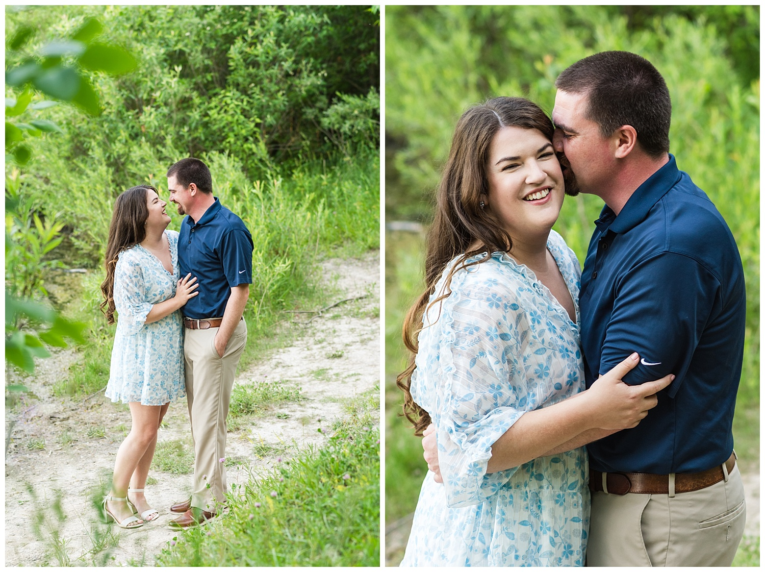 summer engagement session in mid michigan