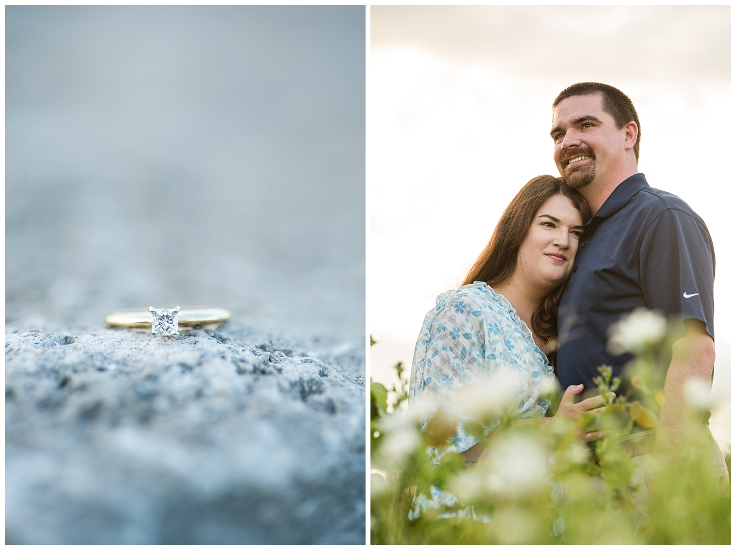 engagement ring mid michigan engagement session