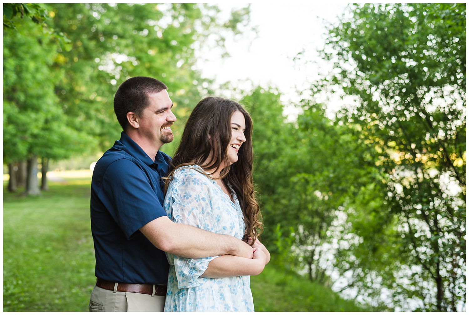 mid michigan engagement session with happy couple