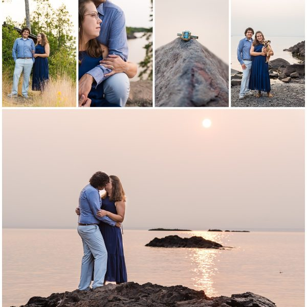 blog collage for esrey park engagement session