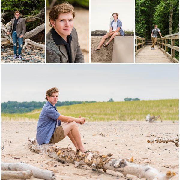 blog collage for grand marais mi senior pictures jack
