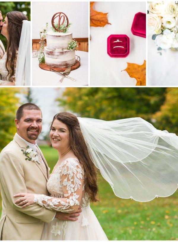 Interlaken Resort Michigan Wedding in October | Chaz + Alison
